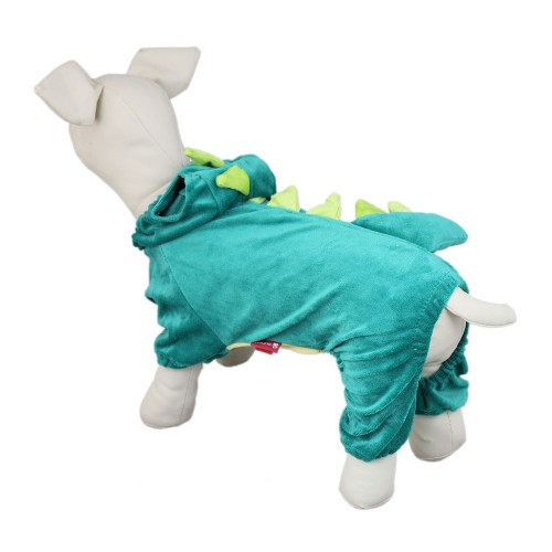 Pet Dinosaur Hoody Coat Dog Jacket Clothes-Green