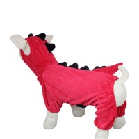 Pet Dinosaur Hooded Clothing Dog Coat, Red