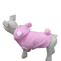 Pink Animal Shape Pet Winter Coat Dog Hoodie Clothes