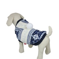 Snowflake Series Blue Hooded Dog Clothes