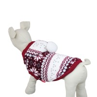 Snowflake Series Hooded Dog Clothes Coat Red