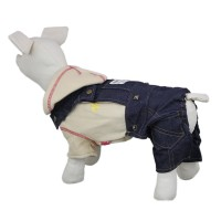 Fashion Denim Pet Pants Dog Clothes Coat