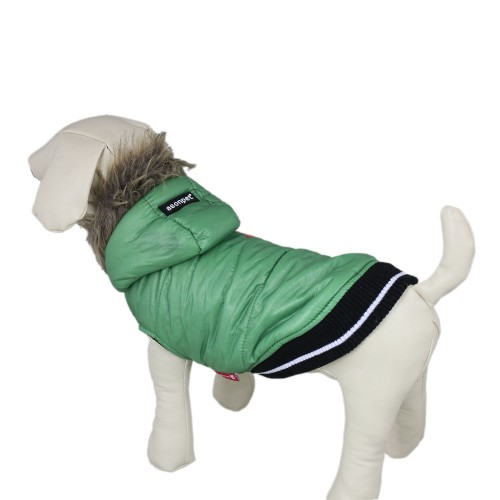 Winter Warm Green Pet Coat Dog Jacket