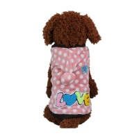 Pink Dot Hooded Dog Autumn Coat