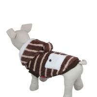 Cute Stripe Winter Warm Dog Coat Jacket-Coffee