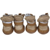 Coffee Suede Winter Pet Snow Boots