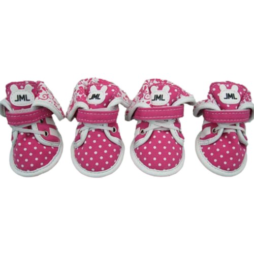 Pink Canvas Pets Sports Shoes