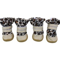 New Style Leopard Warm Dog Shoes