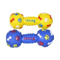 SM. Dumbbell with paw bone print
