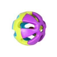 Tricolor bell Ball Pet Toy for Chew and Fetch