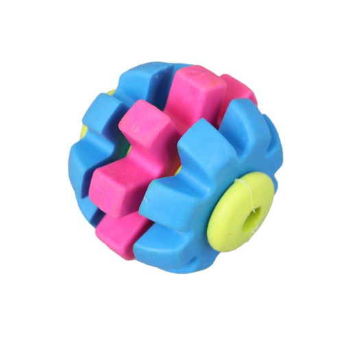 Tri-color Rotary Gear Ball Chew Dog Toy