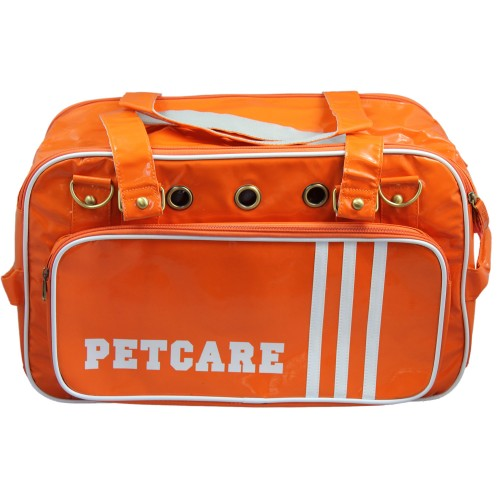 orange travel carrier bag