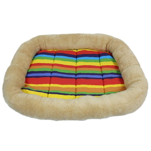 Colorful Striped Canvas Pet Pad Dog Bed Cushion