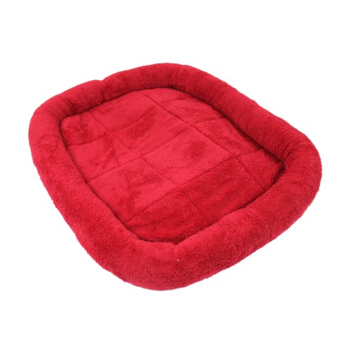 Soft Velvet Pet Cushion Bed Dog Pad Red