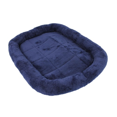 Soft Velvet Pet Cushion Bed Dog Pad Blue