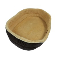 Brown Simple Both Sides Pet Bed Dog Couch Nest