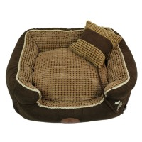 Dark Brown Washable Pet Bed Dog House Nest