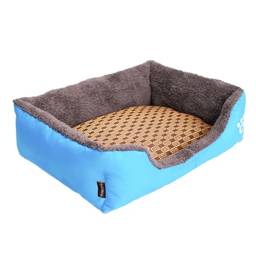 Candy Square Pet Warm Soft Bed Dog Nest House-Blue