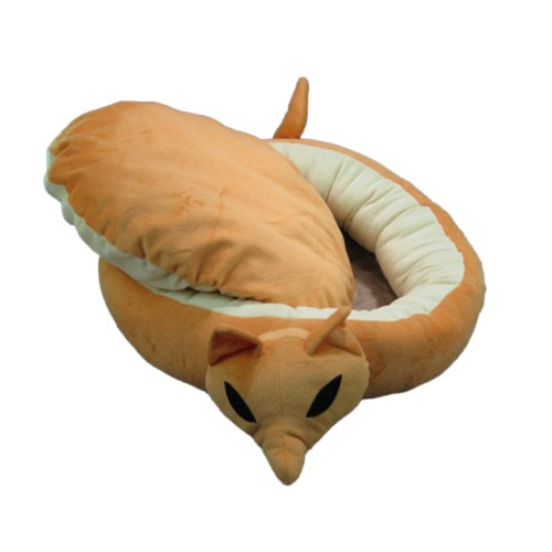 Fox Oval Shape Pet Pad Dog Bed