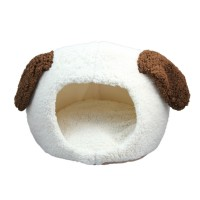 Soft Short Plush Washable Round Pet Bed Dog Nest