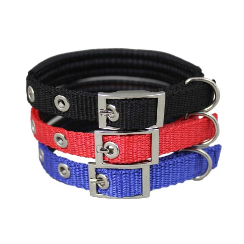 Adjustable Alloy Buckle Classic Basic Nylon Dog Collar