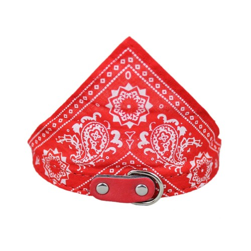 Adjustable Pet Dog Bandana Scarf Pet Collars Red