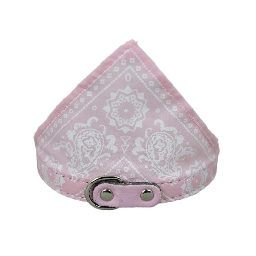 Adjustable Pet Dog Bandana Scarf Pet Collars Pink