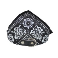 Adjustable Pet Dog Bandana Scarf Pet Collars Black