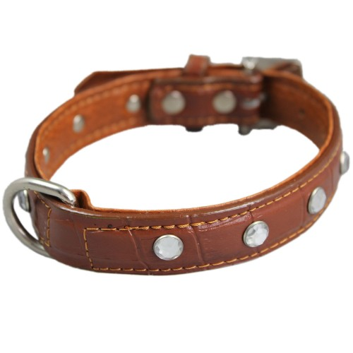Brown Diamond Adjustable Pet Collars
