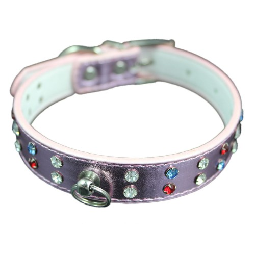 Charming Multi-color Stones Pet Collars
