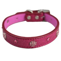 Rose Red Cross Adjustable Pet Collars