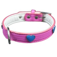 Pink Hearts Adjustable Pet Collars