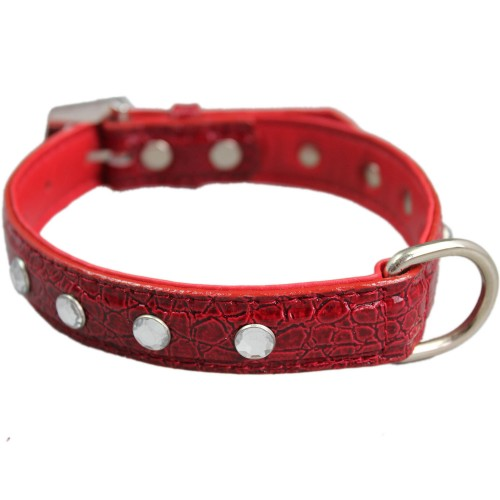 Red Pattern Diamond Pet Adjustable Collars