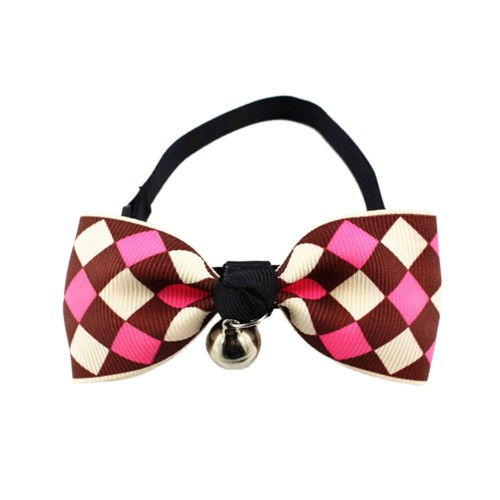 Pets Checkered Bow Tie Collars