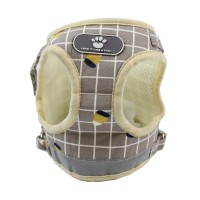 Soft Mesh Small Dog Harness with Leash - Basic Plaid Padded Chest Vest for Kitties,Puppy,Small Medium Pets