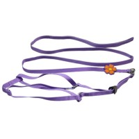 Pure Single Flower Dog Harnesses&Leads Purple