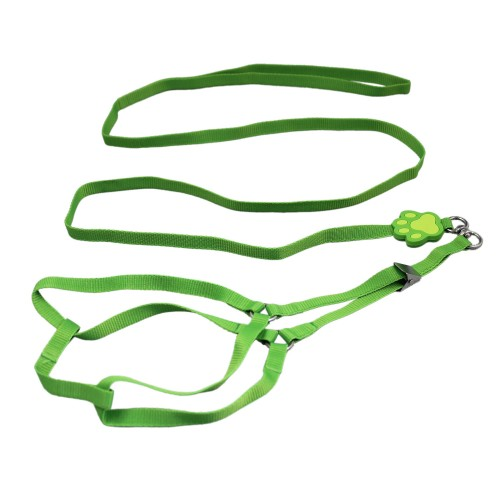 Pet Footprint Harnesses&Leads-Green